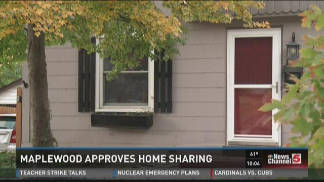 Maplewood approves home sharing